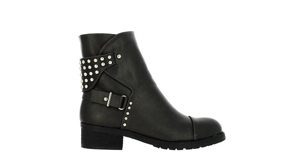 Dámské antracitové kotníkové boty s cvočky Vanessa Wu