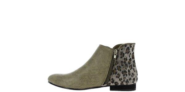 Dámské kotníčkové boty s leopardí patou Vanessa Wu