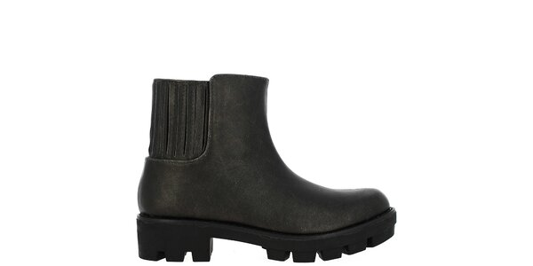 Dámské antracitové kotníkové boty Vanessa Wu