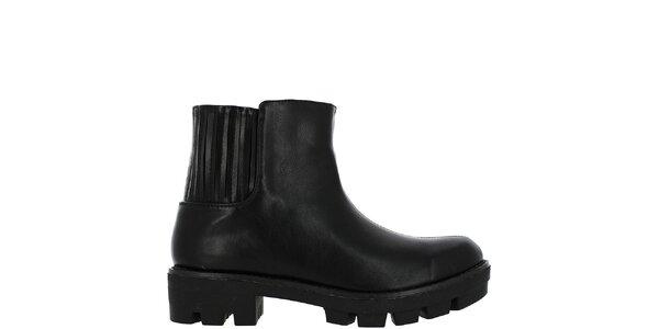 Dámské černé kotníkové boty Vanessa Wu