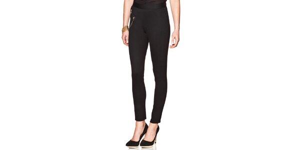 Dámské černé kalhoty se zipy Joana and Paola