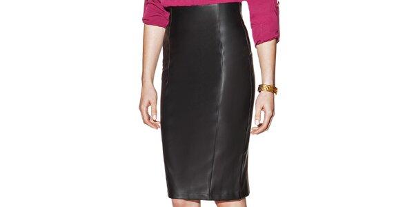 Dámská černá koženková sukně Joana and Paola