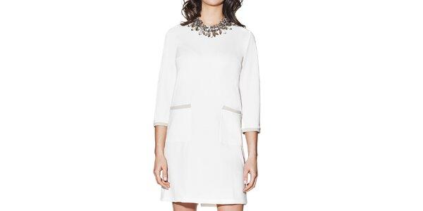 Dámské bílé šaty s kapsami Joana and Paola