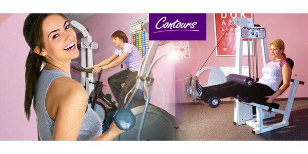 Měsíc cvičení v dámské fitness Contours v Plzni