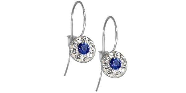 Dámské náušnice Swarovski Elements s modrým středem