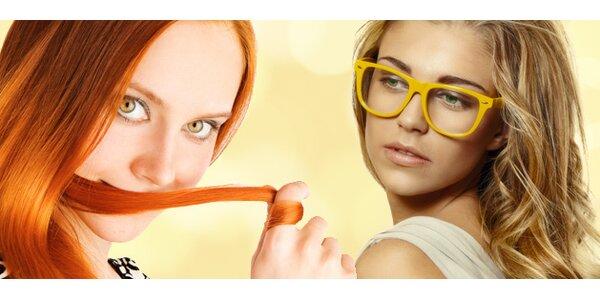 Barva nebo melír se střihem a konečnou úpravou + zdarma ošetření vlasů…