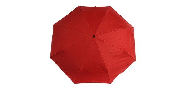 Dámský červeno-černý skládací deštník Ferré Milano s vzorovaným vnitřkem