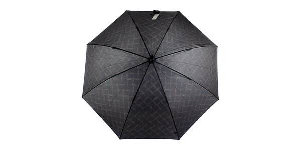 Pánský černý vystřelovací deštník s vzorkem Ferré Milano