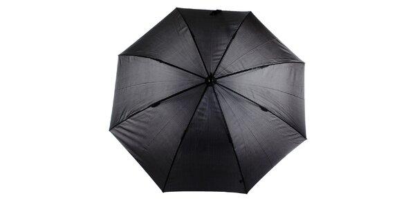Pánský šedo-černý vystřelovací deštník s proužkem Ferré Milano
