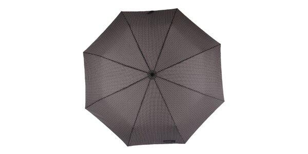 Pánský vystřelovací deštník s šedým vzorem Ferré Milano