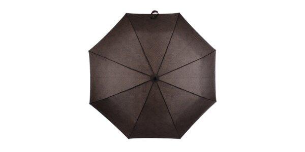 Pánský skládací vystřelovací deštník s nápisy Ferré Milano