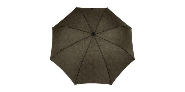 Pánský vystřelovací deštník s černým logem Ferré Milano