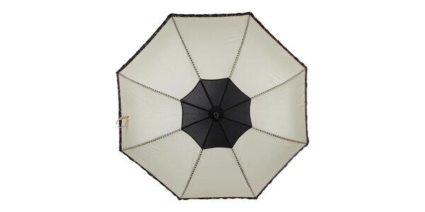 Dámský béžovo-černý vystřelovací deštník Ferré Milano