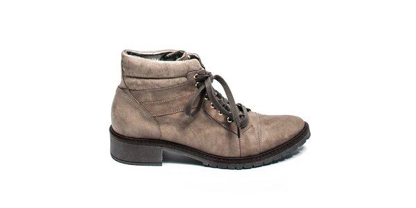 Kotníkové boty se šněrováním Moda Italiana