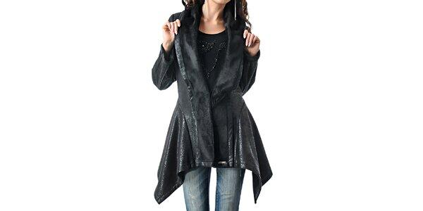 Dámský projmutý černý kabátek Female Fashion