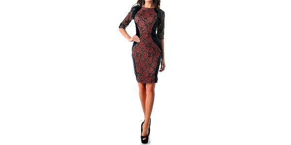 Dámské šaty s červenými růžemi Female Fashion