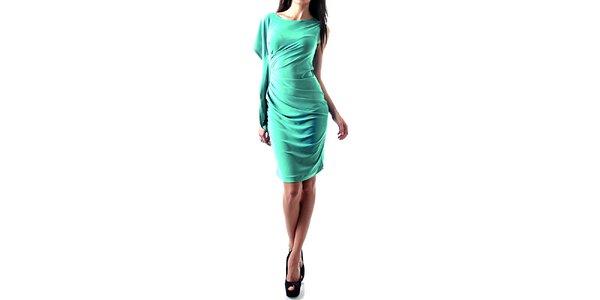 Dámské světle modré nařasené šaty Female Fashion