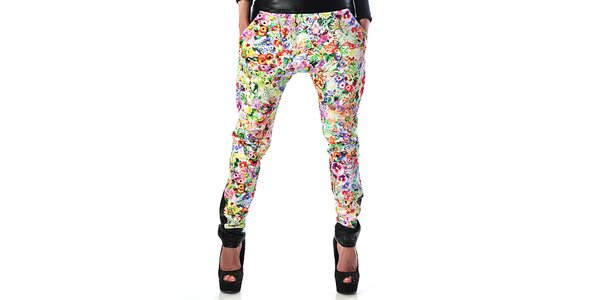 Dámské květinové harémové kalhoty Female Fashion