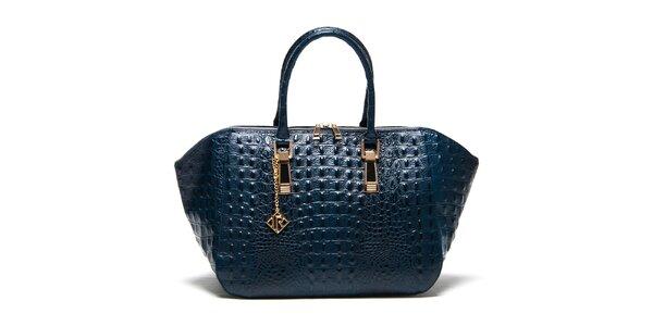Dámská modrá kabelka s platickým vzorem Isabella Rhea