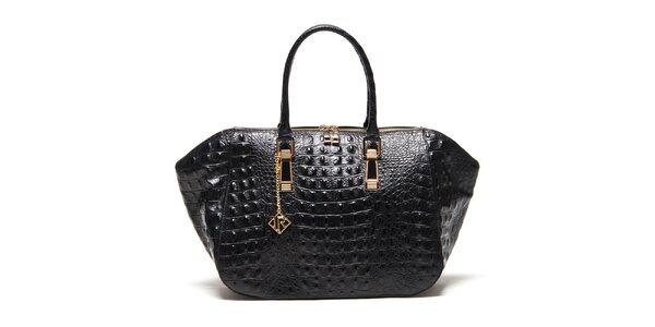 Dámská černá kabelka s plastickým vzorem Isabella Rhea
