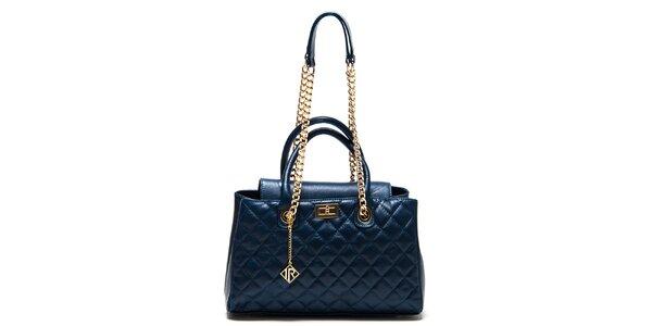 Dámská modrá kabelka s prošíváním Isabella Rhea