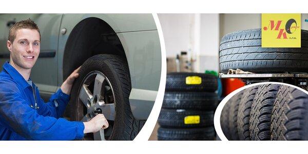 Přezutí letních pneumatik za zimní včetně vyvážení
