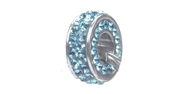 Dámský ocelový přívěsek Swarovski Elements se světle modrými krystaly