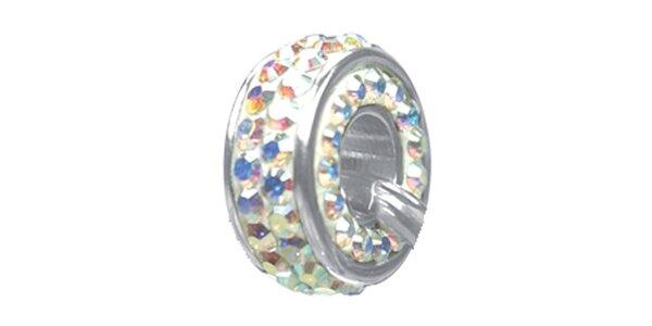 Dámský ocelový přívěsek Swarovski Elements s duhovými krystaly