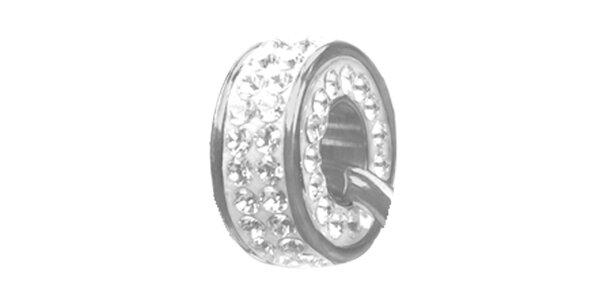 Dámský ocelový přívěsek Swarovski Elements s čirými krystaly