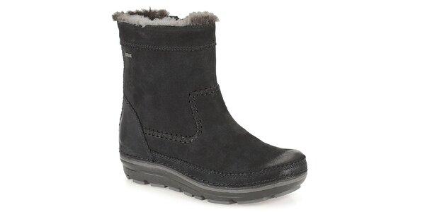 Dámské černé zateplené zimní boty Clarks