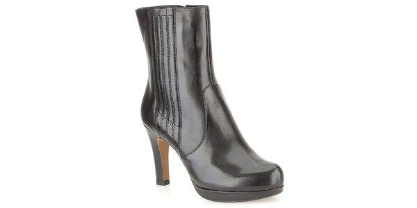 Dámské černé elegantní kotníkové boty Clarks
