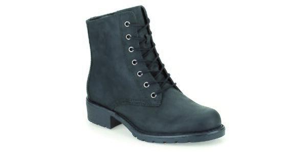 Dámské černé kotníkové boty se zavazováním Clarks