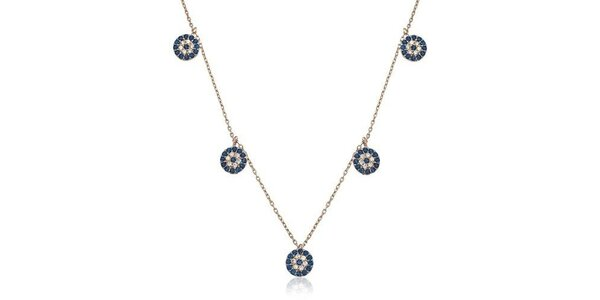 Dámský stříbrný náhrdelník s kulatými přívěsky Elite Goby