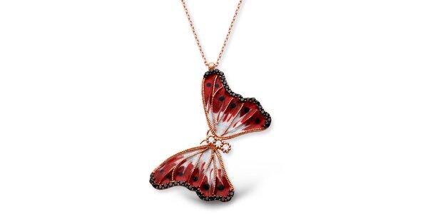 Dámský stříbrný náhrdelník s motýlkem Elite Goby