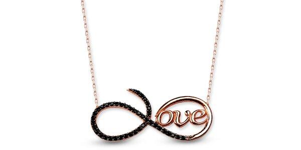 Dámský stříbrný náhrdelník s nápisem love Elite Goby