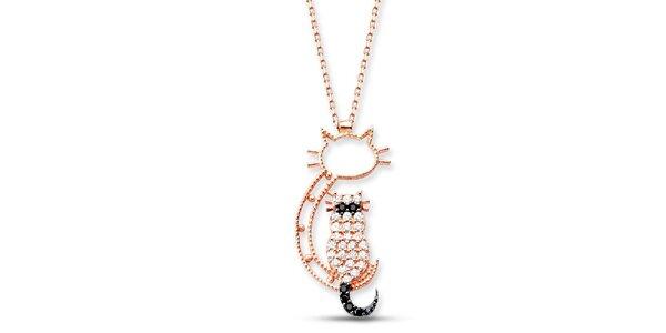 Dámský stříbrný náhrdelník s kočičkou Elite Goby