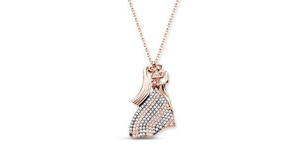 Dámský stříbrný náhrdelník s milenci Elite Goby