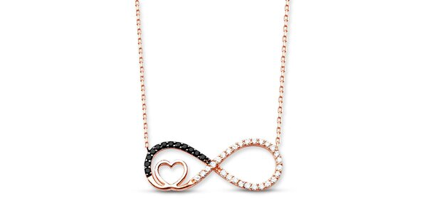 Dámský stříbrný náhrdelník s ležatou osmičkou Elite Goby
