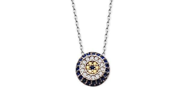 Dámský náhrdelník s barevným kulatým přívěskem Elite Goby