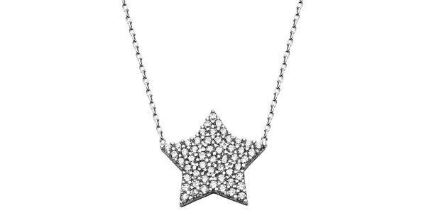 Dámský náhrdelník s hvězdičkou a zirkony Elite Goby