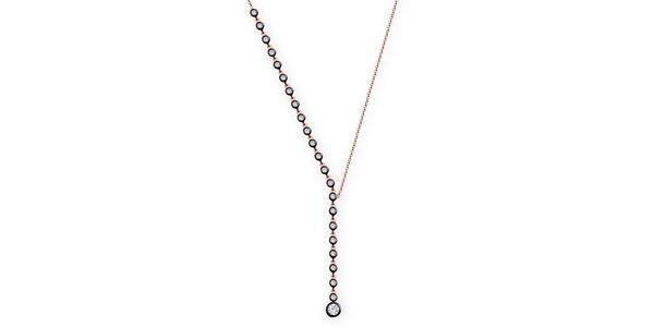Dámský náhrdelník s bílými zirkony Elite Goby