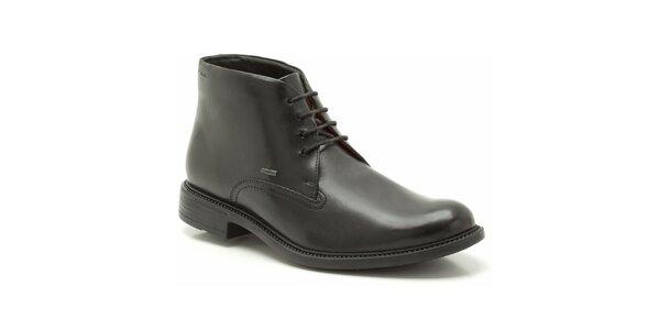 Pánské kotníkové černé kožené boty Clarks