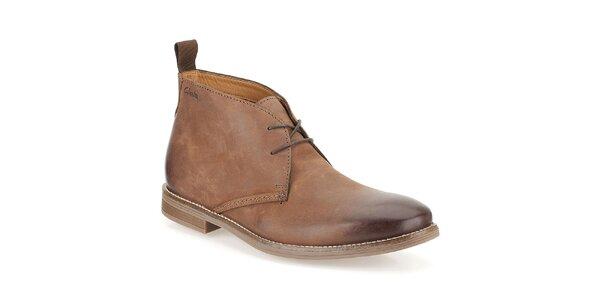 Pánské hnědé šněrovací boty Clarks