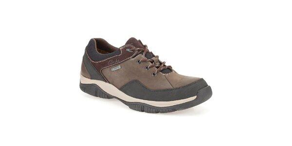 Pánské hnědé vodotěsné boty Clarks