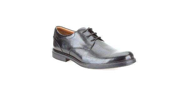 Pánské černé lesklé boty Clarks