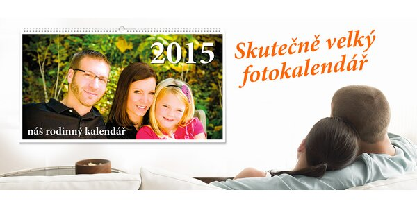 """Vytvořte vlastní """"skutečně velký"""" foto kalendář"""