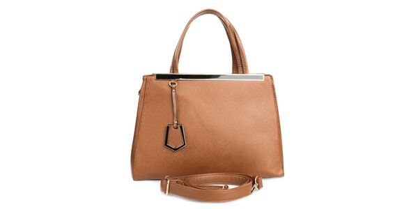 Dámská hnědá kabelka s vnější kapsičkou London fashion