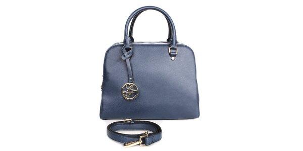 Dámská modrá kabelka s přívěskem London fashion