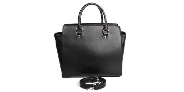 Dámská černá kabelka s vnitřní kapsičkou London fashion