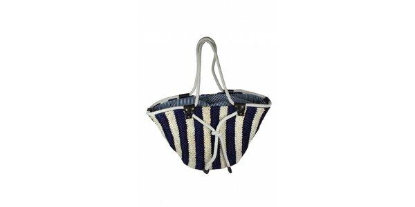 Dámská modro-bílá taška z mořské trávy Tantra